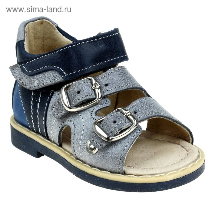 Туфли открытые малодетские Зебра, арт. 10442-10 (серый) (р. 20)