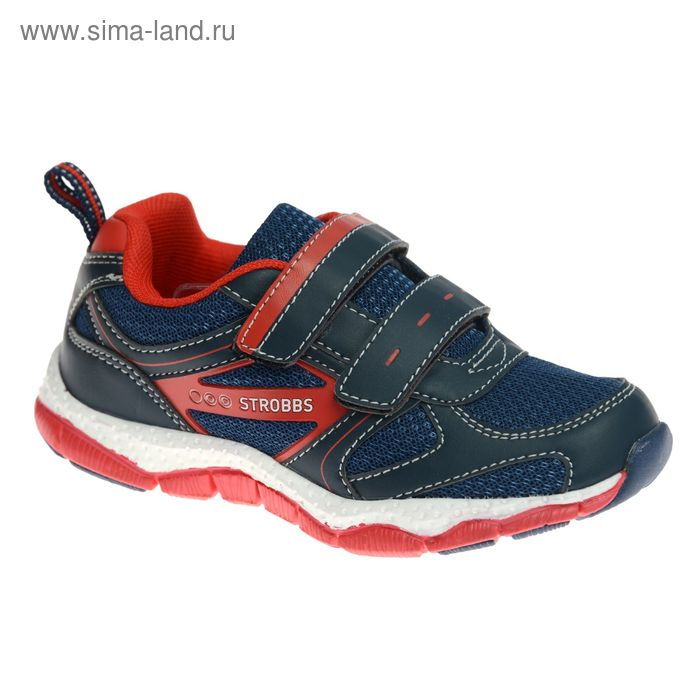Кроссовки детские STROBBS, цвет красный, размер 30 (арт. S1424-2)