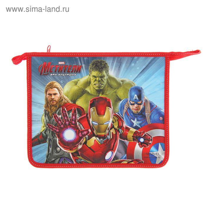 Папка для тетрадей А5 Marvel «Мстители» молния сверху