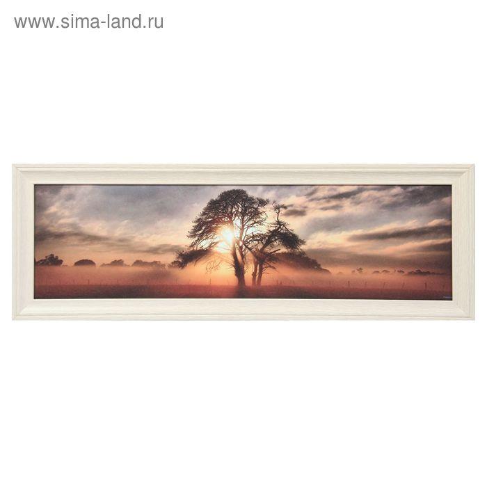 """Картина в раме  """"Солнце сквозь деревья""""   40*100см"""
