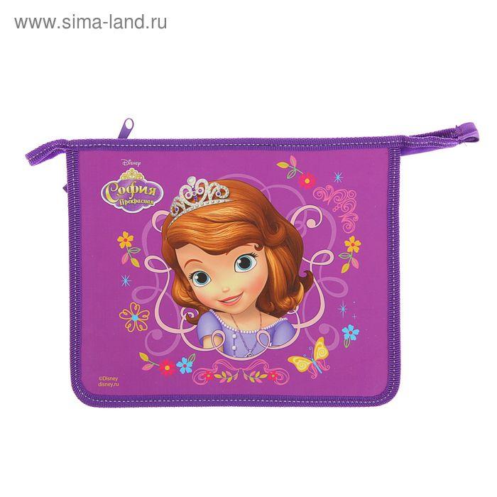 Папка для тетрадей А5 Disney «София» молния сверху