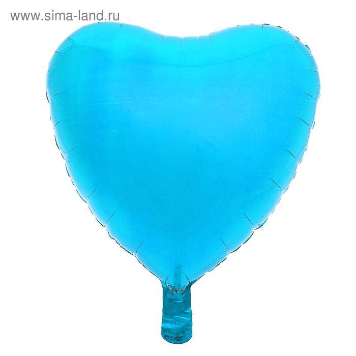 """Шар фольгированный """"Сердце"""" 18"""", металл, Blue"""
