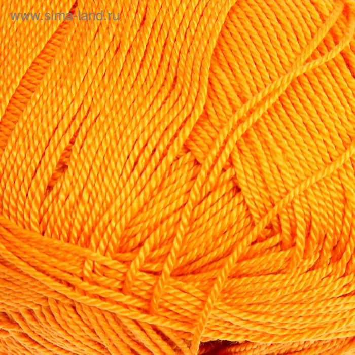 """Пряжа """"Miss"""" 100% мерсеризованный хлопок 280м/50гр (83 оранжевый)"""