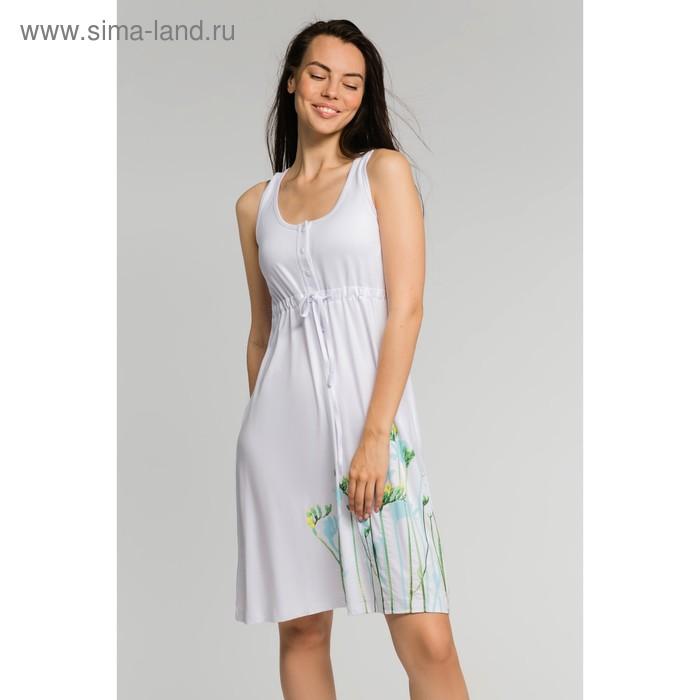 Сарафан женский, цвет белый, размер 46 (арт. М-503-10)