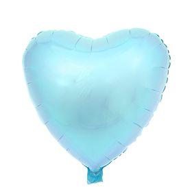 """Шар фольгированный """"Сердце"""" 18"""", пастель, Blue"""