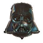 """Шар фольгированный 12"""" """"Звёздные войны"""", шлем Вейдера, для палочки"""