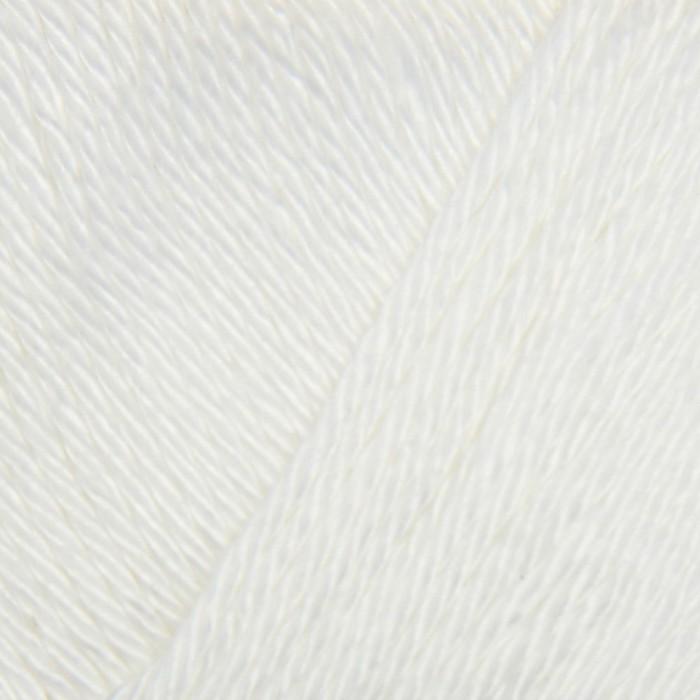 """Пряжа """"Bahar"""" 100% мерсеризованный хлопок 260м/100гр (55 белый)"""