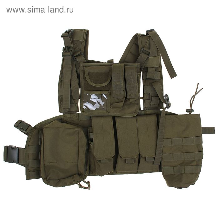 Жилет разгрузочный KINGRIN Tactical vest with accessory (OD) VE-17-OD