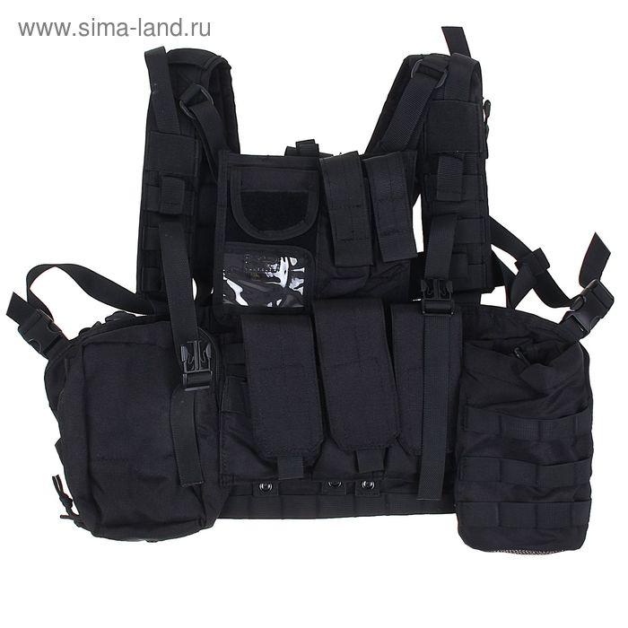 Жилет разгрузочный KINGRIN Tactical vest with accessory (Black) VE-17-BK