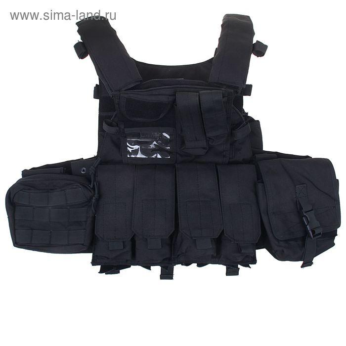 Жилет разгрузочный KINGRIN Tactical vest (Black) VE-21-BK