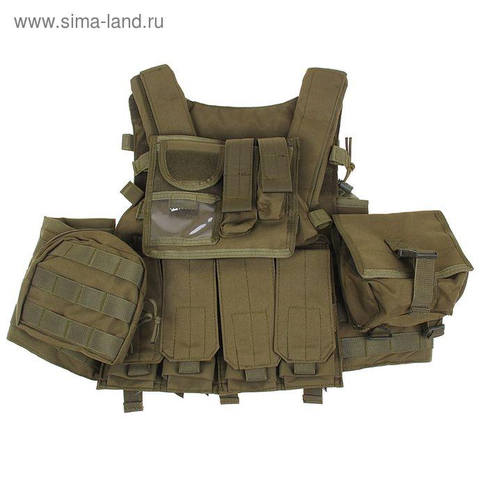 Жилет разгрузочный KINGRIN Tactical vest (OD) VE-21-OD