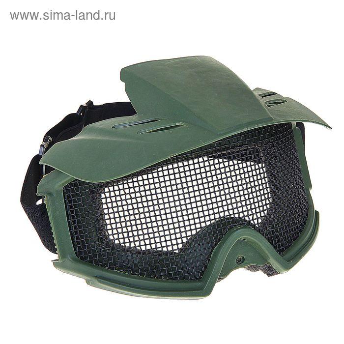 Очки защитные для страйкбола KINGRIN Desert Locust mesh goggles include sunshade (OD) MA-06-OD   134