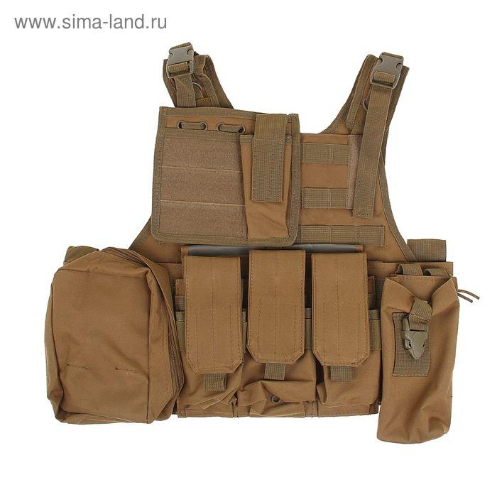 Жилет разгрузочный KINGRIN Tactical vest (Tan) VE-03-T