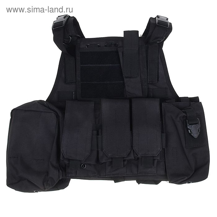 Жилет разгрузочный KINGRIN Tactical vest (Black) VE-03-BK