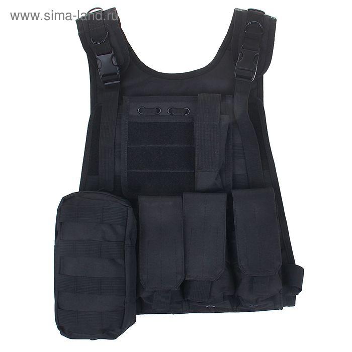 Жилет разгрузочный KINGRIN Tactical vest (Black) VE-12-BK