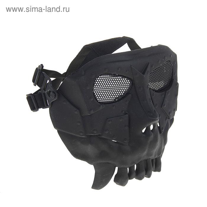 Маска для страйкбола KINGRIN Desert army group mask V2-Round mesh (Black) MA-53-BK