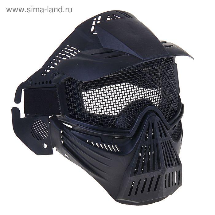 Маска для страйкбола KINGRIN Tactical gear mesh full face mask (Black) MA-07-BK