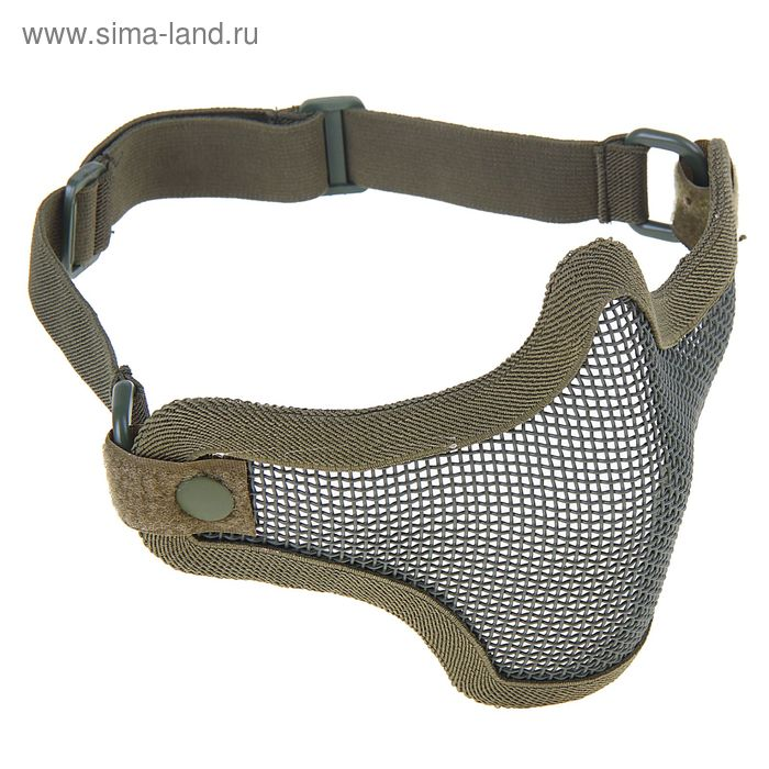 Маска для страйкбола KINGRIN V1 strike steel half face mask-One belt version (OD) MA-20-OD