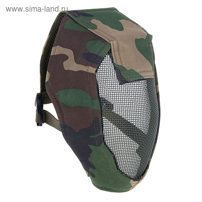 "Маска для страйкбола KINGRIN Face steel ""Striker"" Gen3 metal mesh full face mask (Woodland) MA-12-WL"