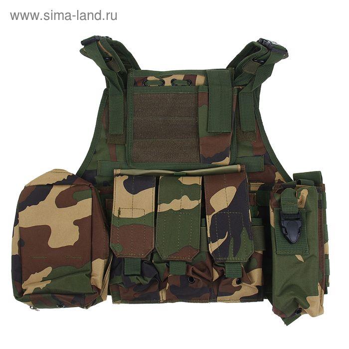 Жилет разгрузочный KINGRIN Tactical vest (Woodland) VE-03-WL