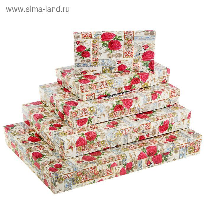 "Набор коробок 5 в 1 ""Цветы с колибри"""