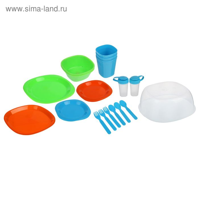 Набор посуды для пикника на 3 персоны УЦЕНКА