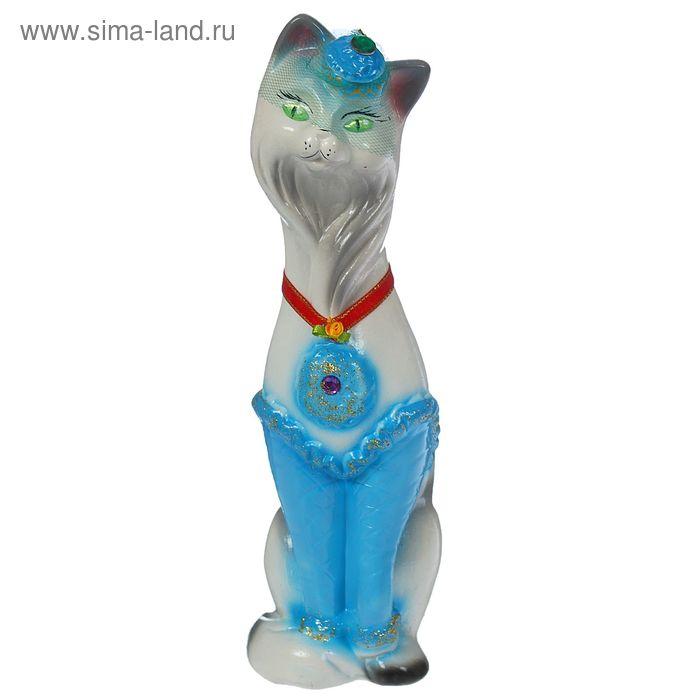 """Копилка """"Кошка Мишель"""" малая, глянец, бело-голубая"""