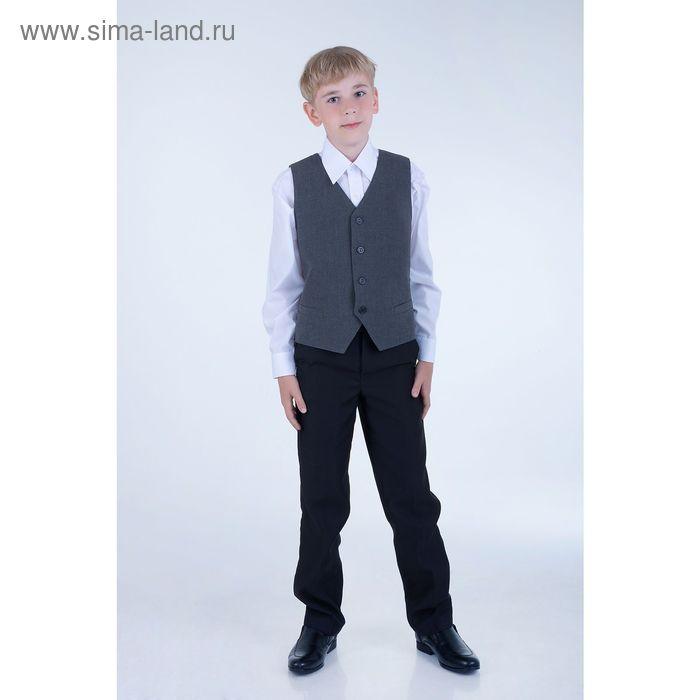 """Брюки школьные для мальчика """"Лидер"""", рост 152 см (38), цвет чёрный"""