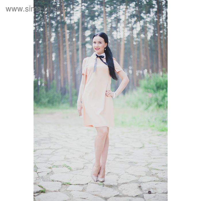 Платье женское, размер 48, рост 164 см, цвет светло-оранжевый (арт. 4659)
