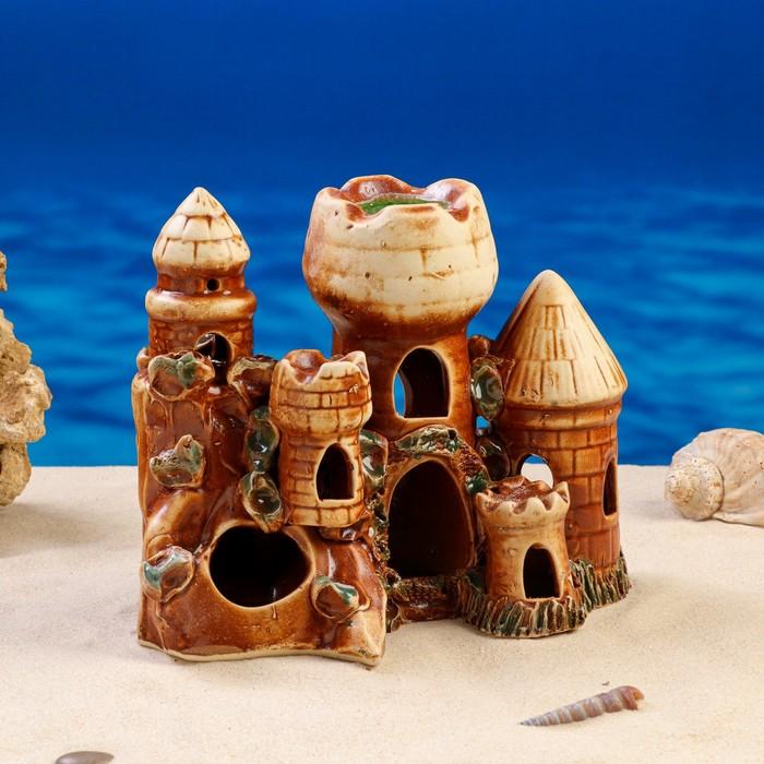"""Декорации для аквариума """"Пять башен и грот"""" микс"""