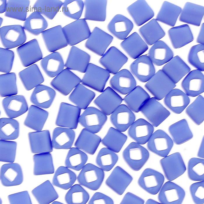 """Бисер Япония """"ТОНО"""" Cube №2, 3 мм, 5гр (0048LF васильк./мат.)"""