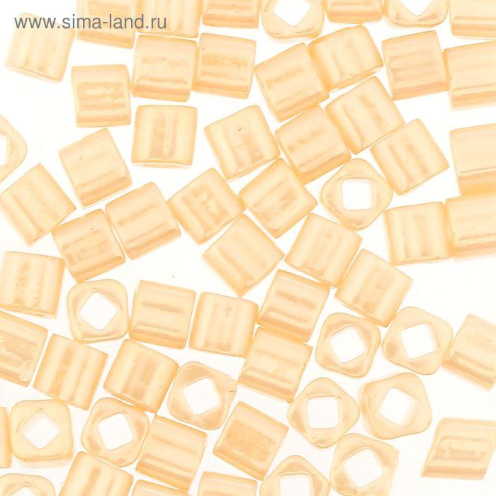 "Бисер Япония ""ТОНО"" Cube №2, 3 мм, 5гр (0123 кремовый/перламутр)"