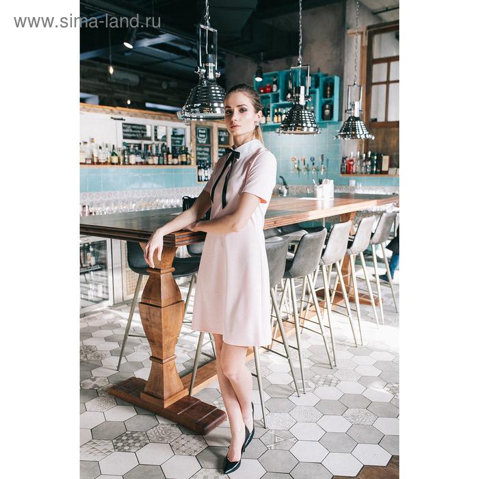 Платье женское, размер 48, рост 164 см, цвет светло-розовый (арт. 4659а)