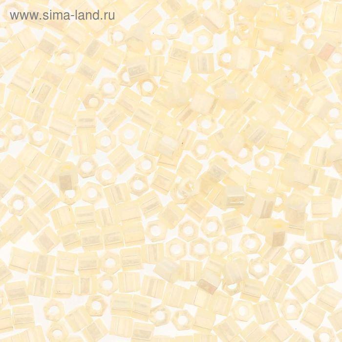 """Бисер Япония """"TOHO"""" Hexagon №3, 11/0, 5гр (0122 молочный/перлам.)"""