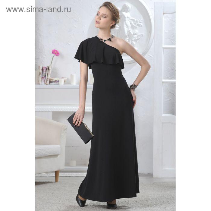 Платье женское, размер 46, рост 164 см, цвет чёрный (арт. 4604)