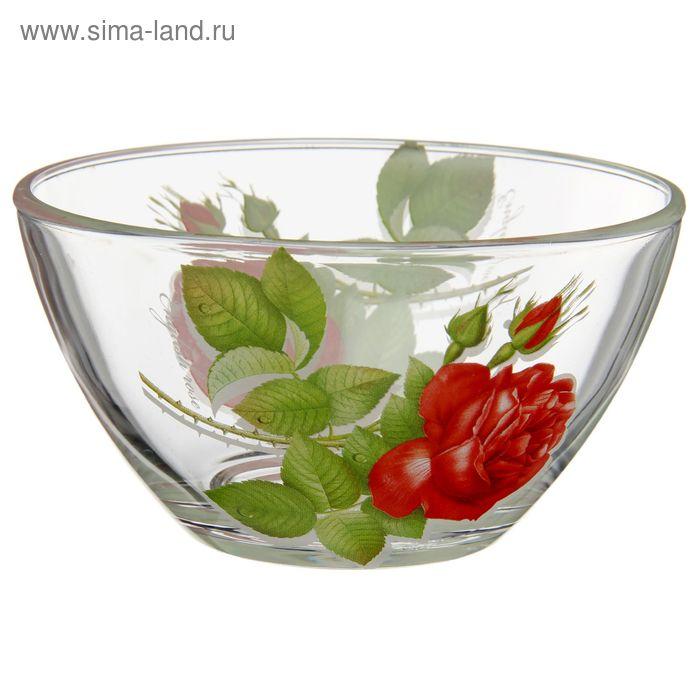 "Салатник 250 мл ""Алая роза"", d=13 см"