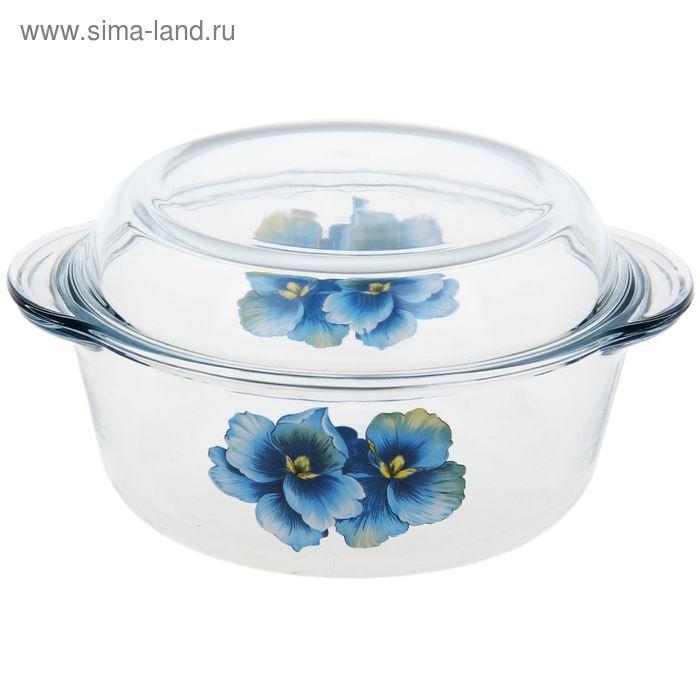"""Кастрюля для СВЧ, 1,5 л """"Голубая орхидея"""""""