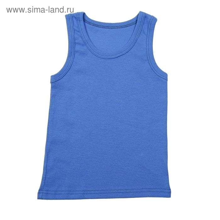 Майка для мальчика, рост 98-104 см (30), цвет синий (арт. 233Б-221)