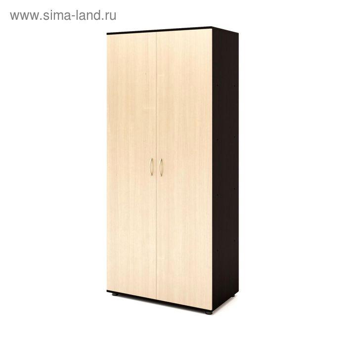Шкаф 5 полок 800х450х1830, венге/белёный дуб