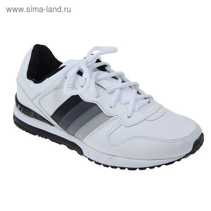 Кроссовки мужские, цвет белый, размер 45 (арт. 6005-3Lt-A SC)