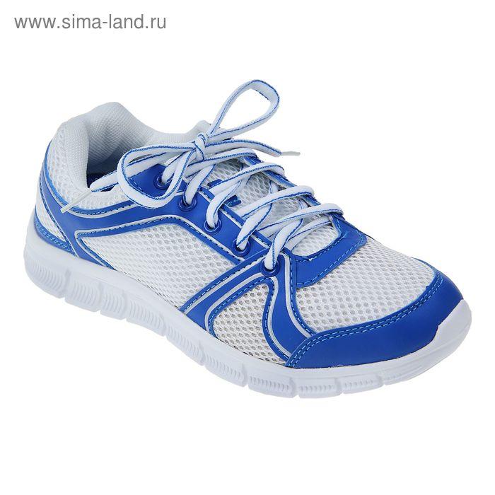 Кроссовки женские, цвет белый/синий, размер 37 (арт. LSW 0026-2-10)