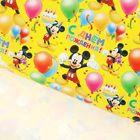 """Бумага упаковочная глянцевая """"Яркий день рождения"""", Микки Маус и друзья, 70 х100 см"""