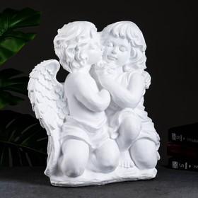 """Статуэтка """"Ангел и фея"""" большая, белая"""