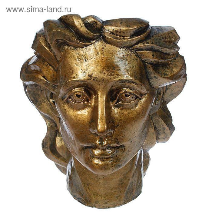 """Фигурное кашпо """"Голова женщины"""" бронза"""