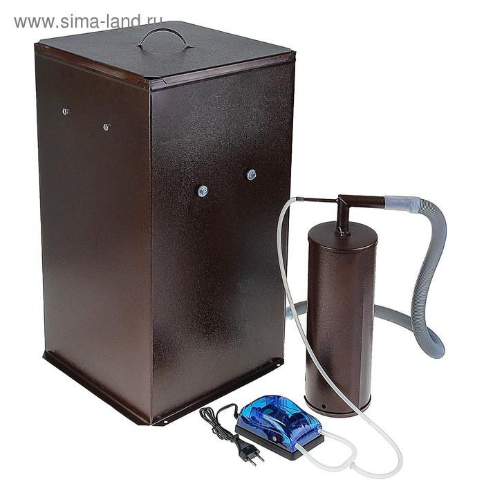 """Коптильня холодного копчения """"Дым Дымыч"""" 01Б, дымогенератор, емкость для копчениния 50 л"""