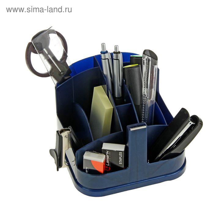 Набор настольный Lamark Munchen, премиум наполнение 12 предметов, синий металлик