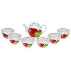 "Набор чайный на 6 персон ""Ассорти"", 7 предметов: чайник 800 мл, 6 пиал 300 мл"