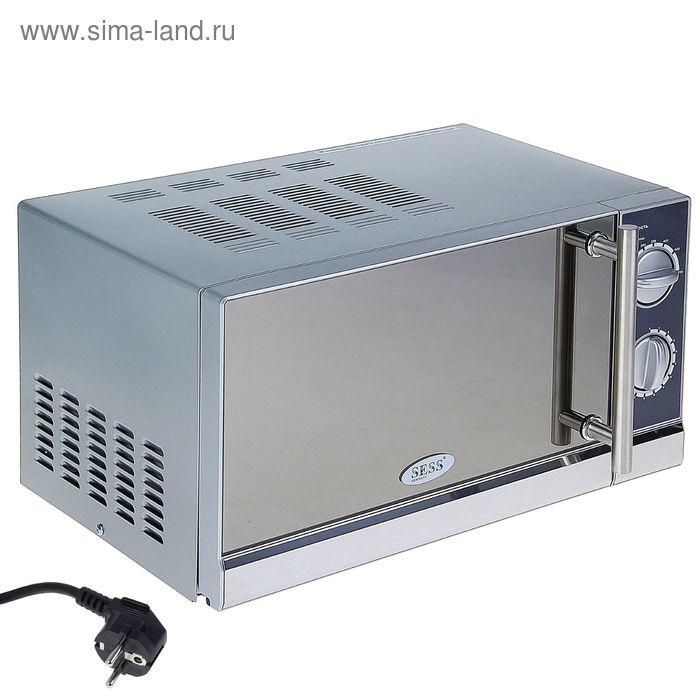Микроволновая печь SESS SS-18MD, 17 л, 700 Вт, зеркальная поверхность