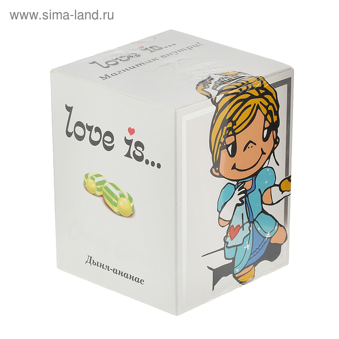 Жевательные конфеты Love is, микс, с магнитом, 125 г