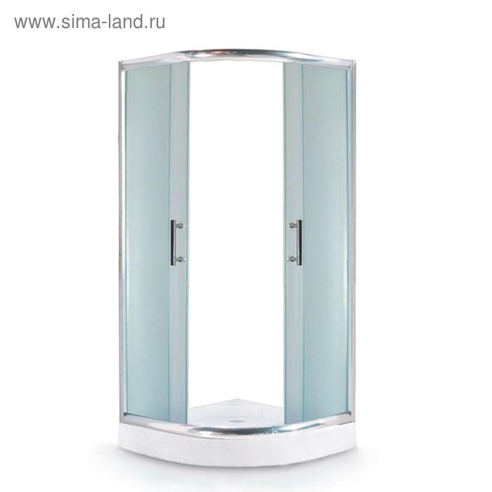 Ограждение душевое Avanta 111/6, низкий поддон, стекло рифленое, 900х900х2000 мм